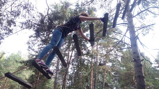 Верёвочный парк в Заельцовском бору