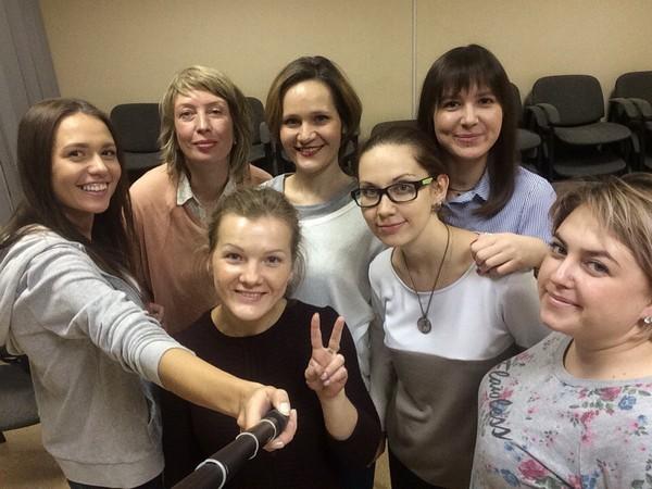 Наталья Жукова в школе радио