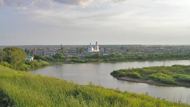 Река Ишим в Петропавловске