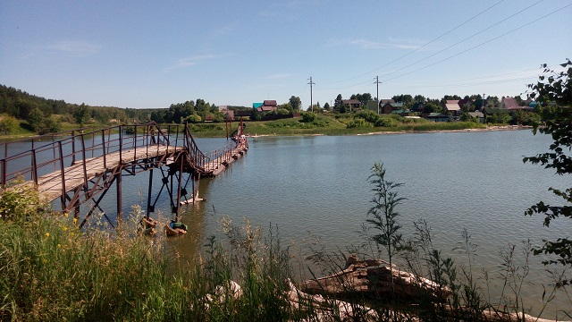 Понтонный мост в Бердске