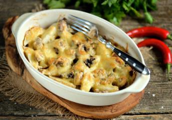 Удовольствие от простой еды: картошечка с грибами
